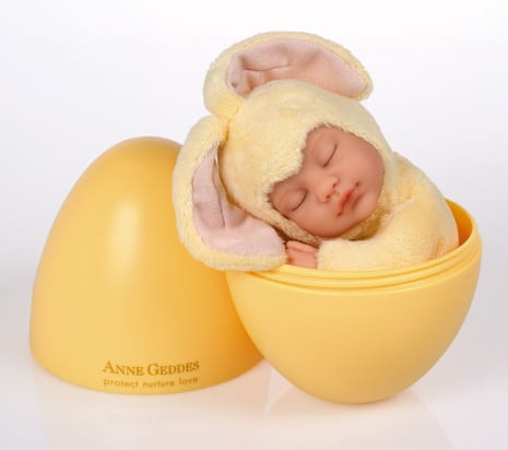 So cute right it s the baby bunny plush toy by anne geddes