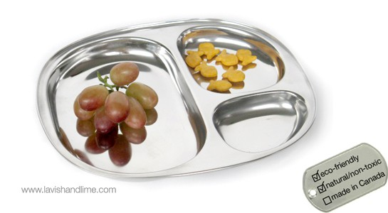 Stainless Steel Food Tray, Children