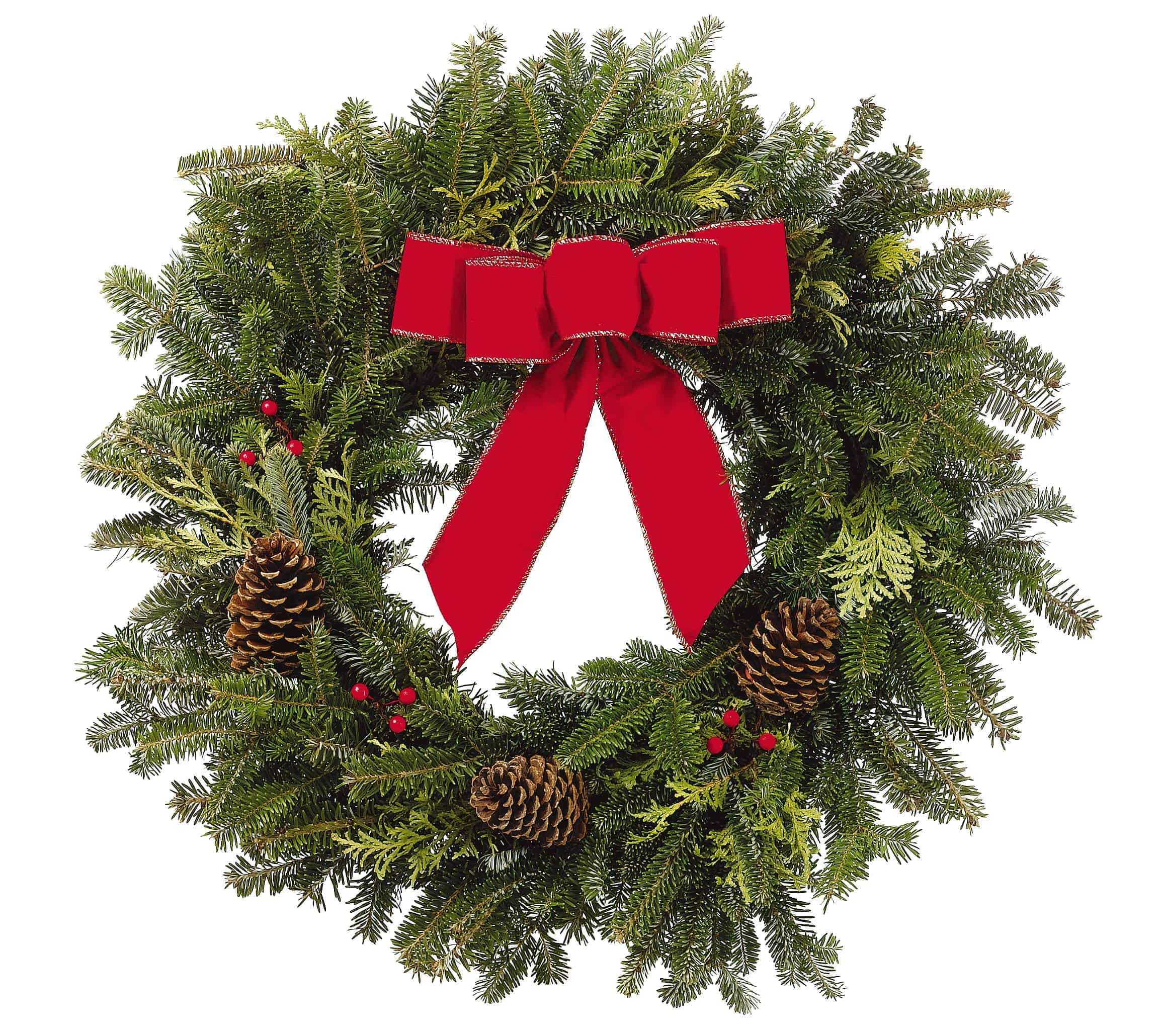 Outdoor Christmas Decorations Clipart: PC Outdoor Holiday Wreath