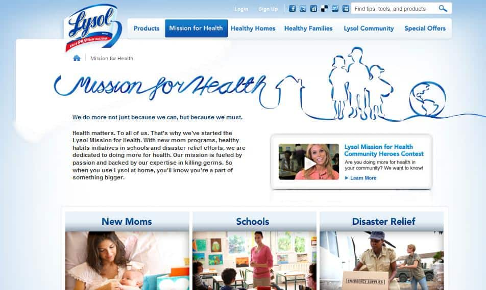 Lysol Mission for Health | Online Parenting Community