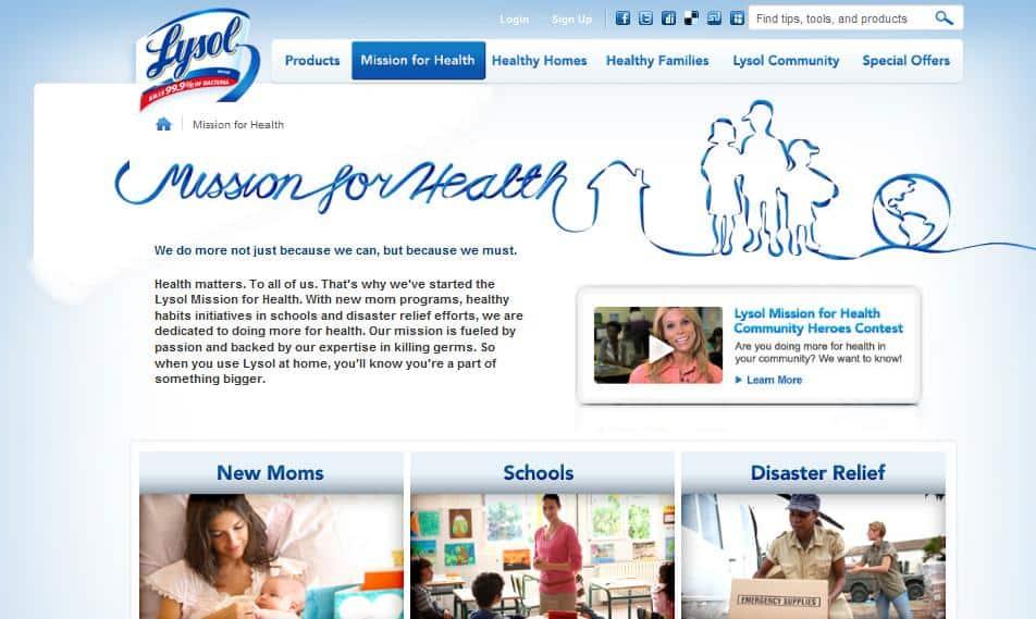 Lysol Mission for Health | Online Parenting Community