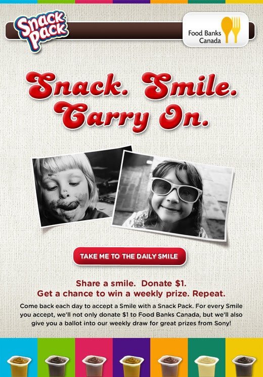 Snack Pack 'Share a Smile' Campaign