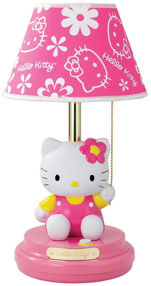 hello kitty table lamp review my organized chaos. Black Bedroom Furniture Sets. Home Design Ideas