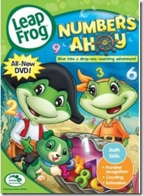 LeapFrog dvd, Alphabet and Numbers DVDs