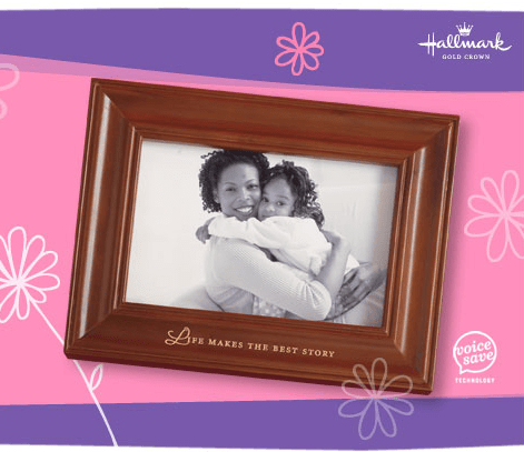 recordable photo frame