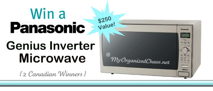 Panasonic Genius Inverter Microwave my organized chaos