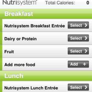NutriSystem, Week 13 and Apps