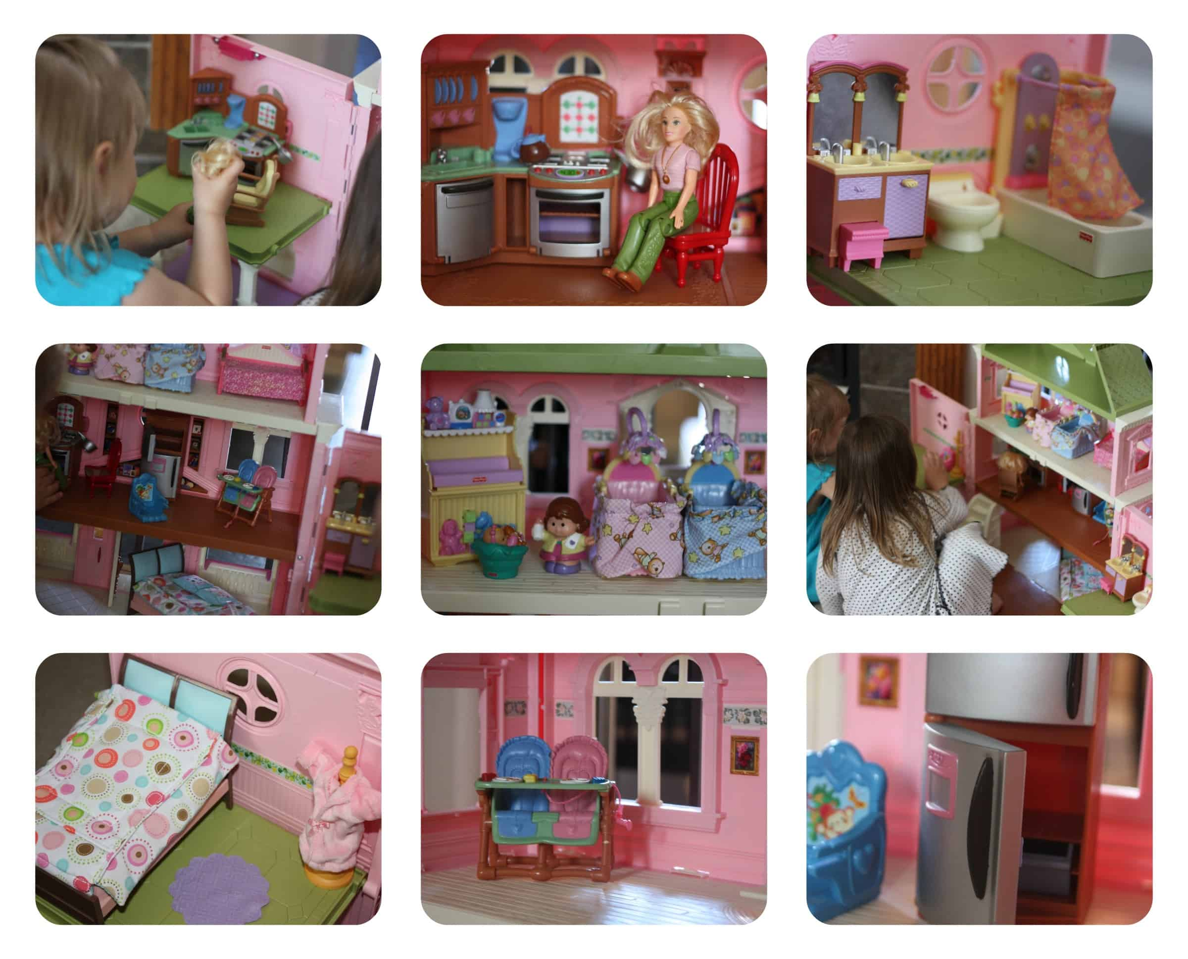 perfect dollhouse for girls my organized chaos. Black Bedroom Furniture Sets. Home Design Ideas