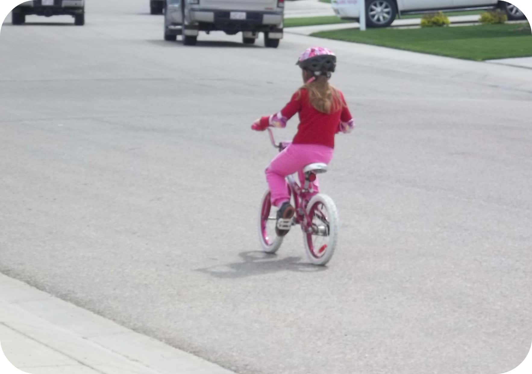 Wordless Wednesday ~ Learning to Ride!