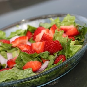 Summertime Family Favorite : Strawberry Romaine Salad