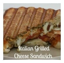 Grilled cheese sandwiches are always a favorite. Yet, let's kick that up a notch, shall we? How about a recipe for Italian Grilled Cheese Sandwich? Mmmm!