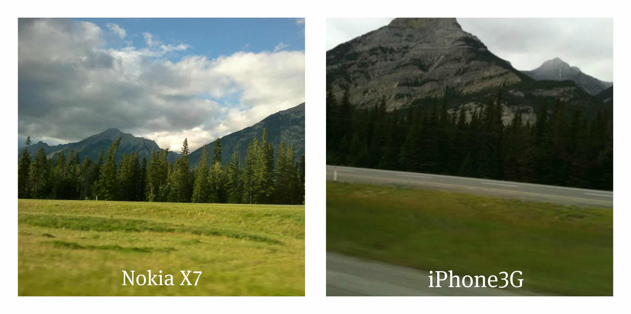 Nokia X7 vs iPhone Photo