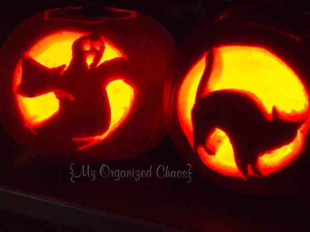 Halloween pumpkin carving stencils m template