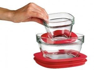Rubbermaid Storage, Glass Containers with Easy Find Lids