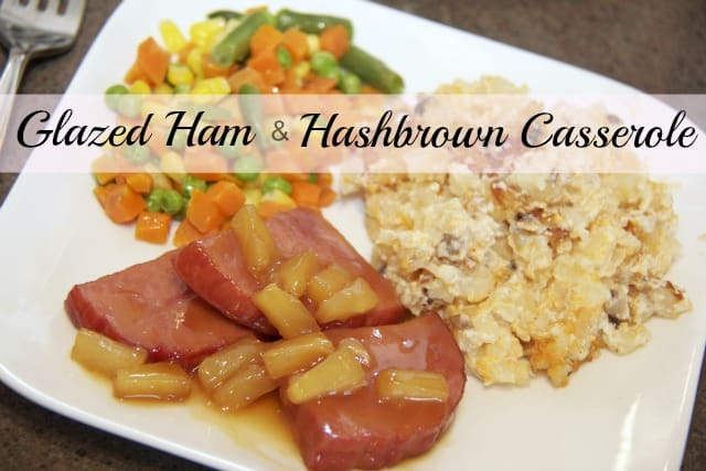 Hashbrown Casserole with Glazed Ham