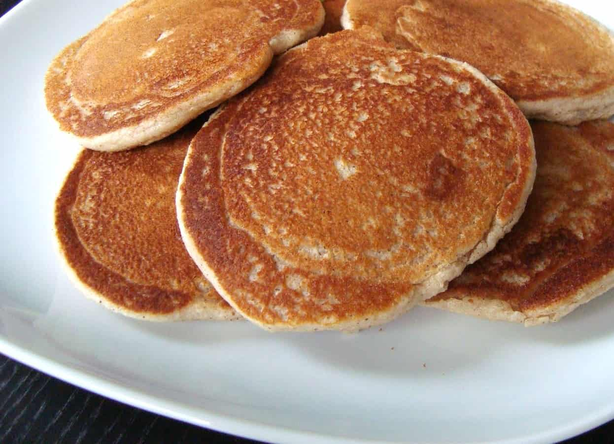 Apple Cinnamon Pancakes ~ Made with Cheerios!
