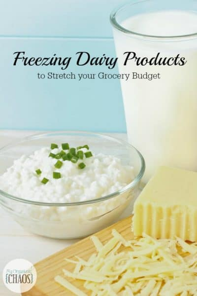 Freezing Dairy Products to Stretch your Grocery Budget