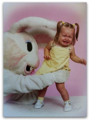 Frightening Photos with the Easter Bunny