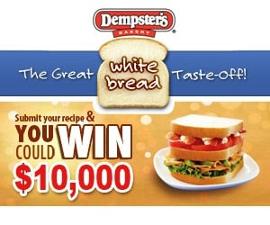 Win $10,000 in the Dempster's Great White Bread Taste-Off!