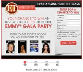ET's Hanging with the Stars Sweepstakes {US only}