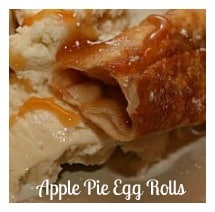 Love apple pie and ice cream? Apple Pie Egg Rolls is a quicker alternative and is definitely delicious! I like to serve mine with ice cream and caramel