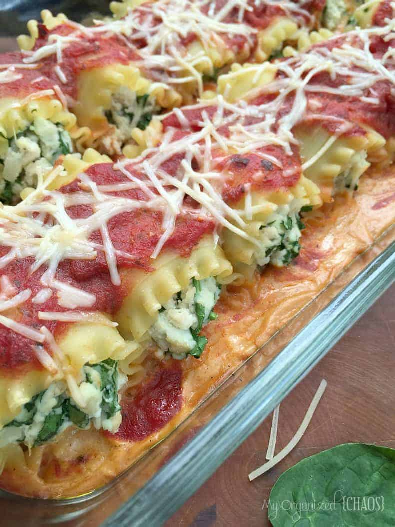 easy chicken spinach cannelloni