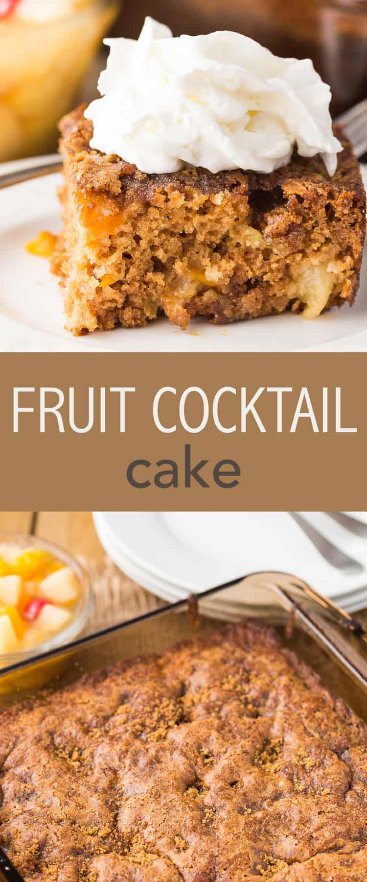 Easy Fruit Cocktail Cake recipe