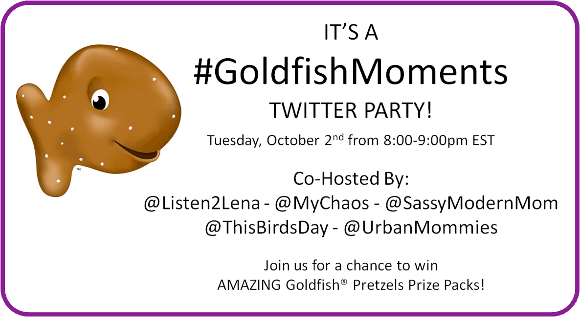 You Are Invited: #GoldfishMoments Twitter Party!