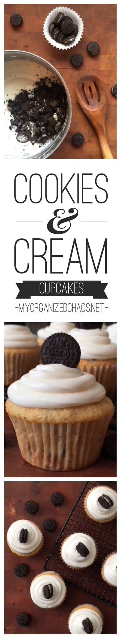 cookies and cream cupcakes oreo