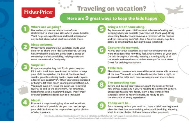 tips for happy family vacation