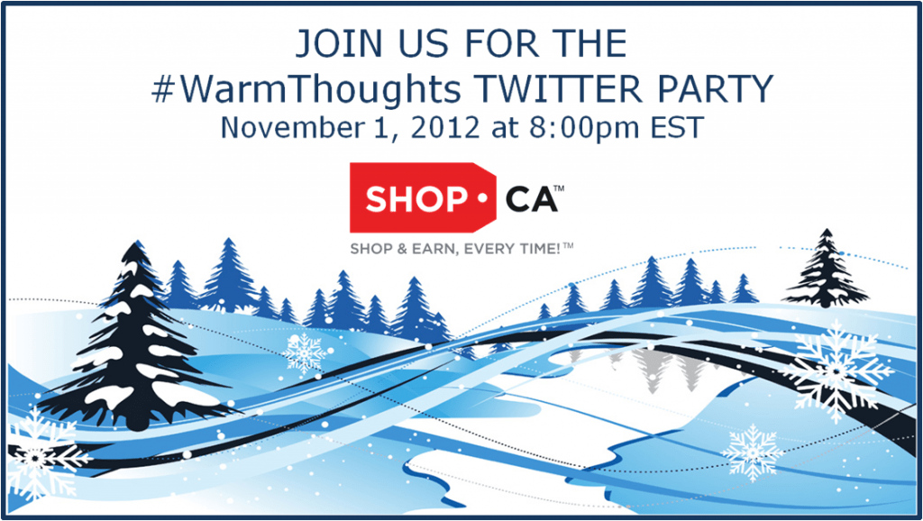 Come to the SHOP.CA #WarmThoughts Twitter Party!