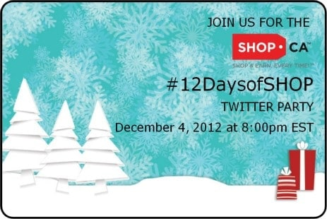 Come to the #12DaysofShop Twitter Party on December 4th