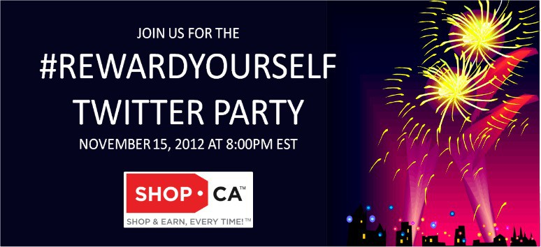 Come to the Shop.ca #RewardYourself Twitter Party!