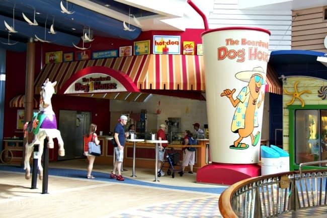 Allure Of The Seas Boardwalk Hot Dogs