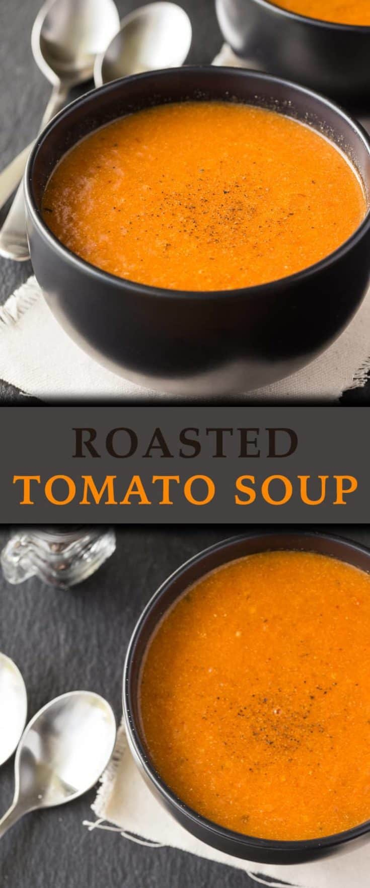 f you have time, make this Roasted Tomato Soup recipe. It's delicious, creamy and you can really taste the REAL tomatoes! #tomatosoup #homemadesoup #souprecipe