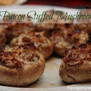 Bacon Stuffed Mushrooms Appetizer Recipe