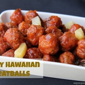 Slow Cooker Tangy Hawaiian Meatballs