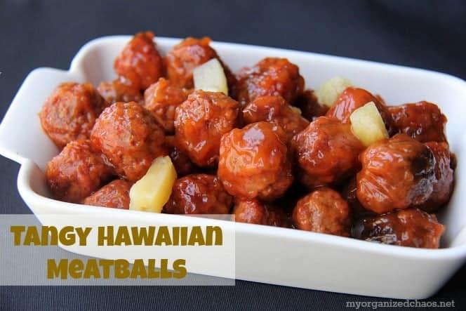 Slow Cooker Tangy Hawaiian Meatballs Recipe My Organized