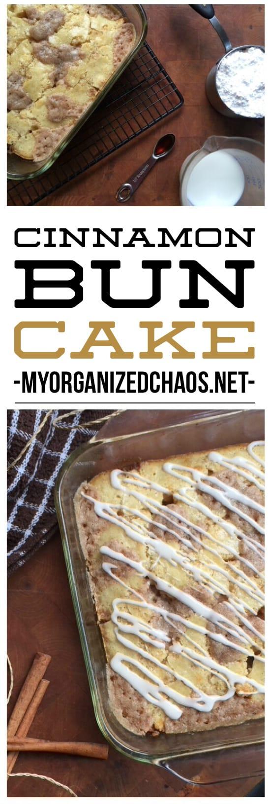 Cinnamon Bun Cake easy Recipe