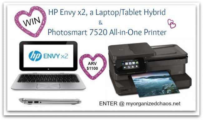 HP Envy x2 laptop tablet printer review giveaway