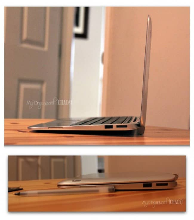 HP Envy x2 tablet laptop size