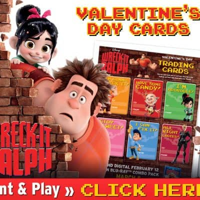 Wreck-It Ralph Printable Valentines Day Cards