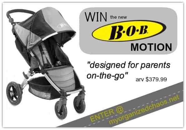 bob motion stroller giveaway myorgnaizedchaos