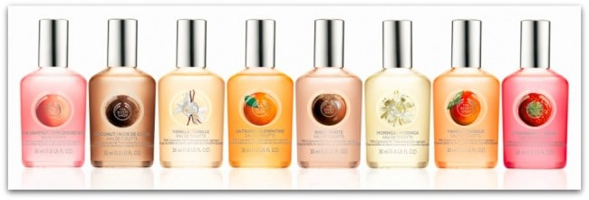 the body shop eau de toilettes