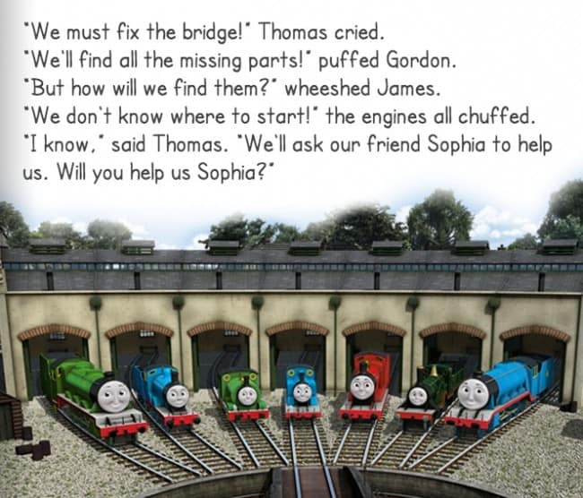 thomas and friends e-story
