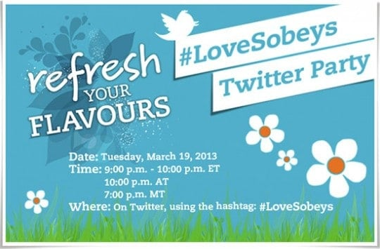 Refresh Your Flavours {#LoveSobeys Twitter Party}