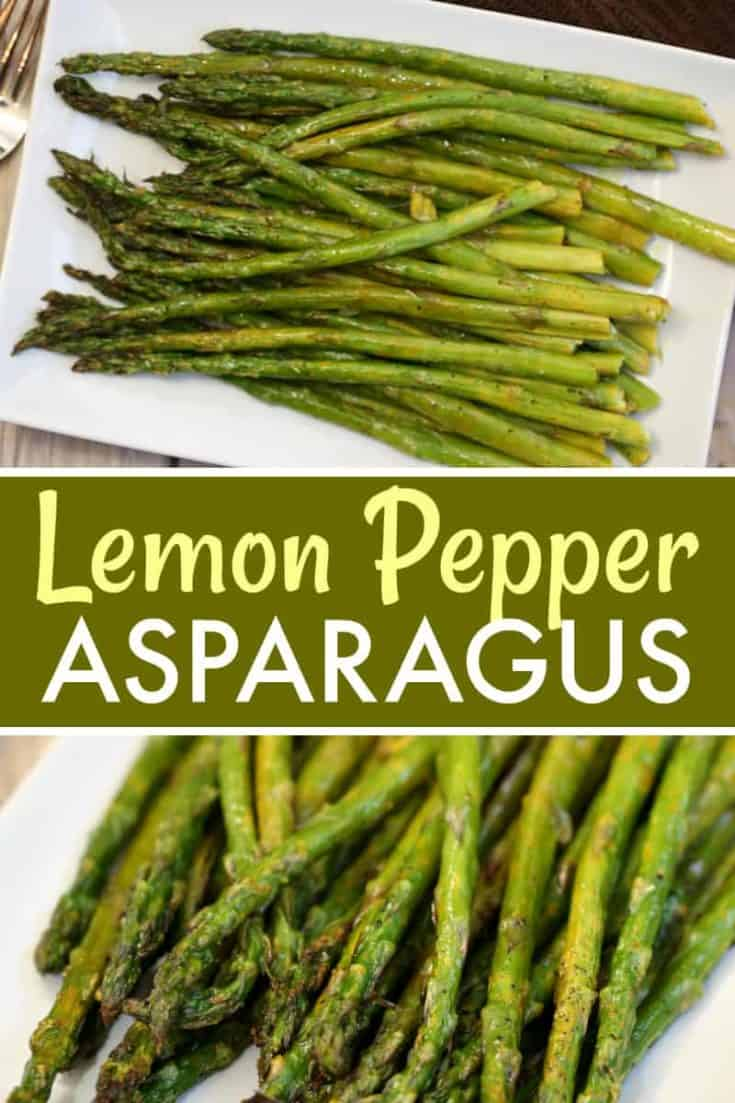 This easy 3 ingredient Lemon Pepper Asparagus recipe is full of flavour and the perfect side to any meal. It's also Vegan and Paleo! #asparagus #sidedish #easyrecipe #vegetable