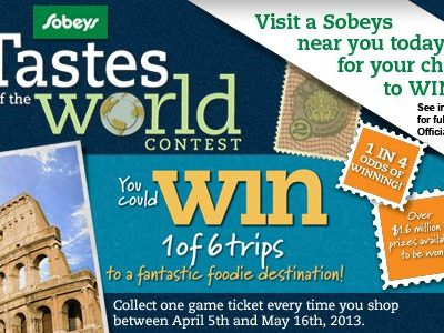 Sobeys West Tastes of the World Contest and a Party RSVP!