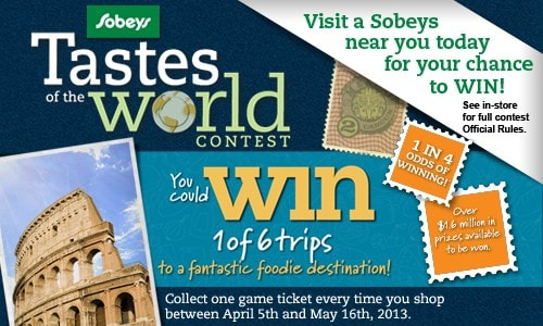 Sobeys West Tastes of the World Contest