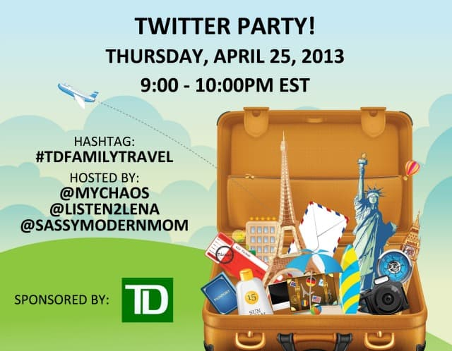 Affordable Family Travel – Come to the #TDFamilyTravel Twitter Party